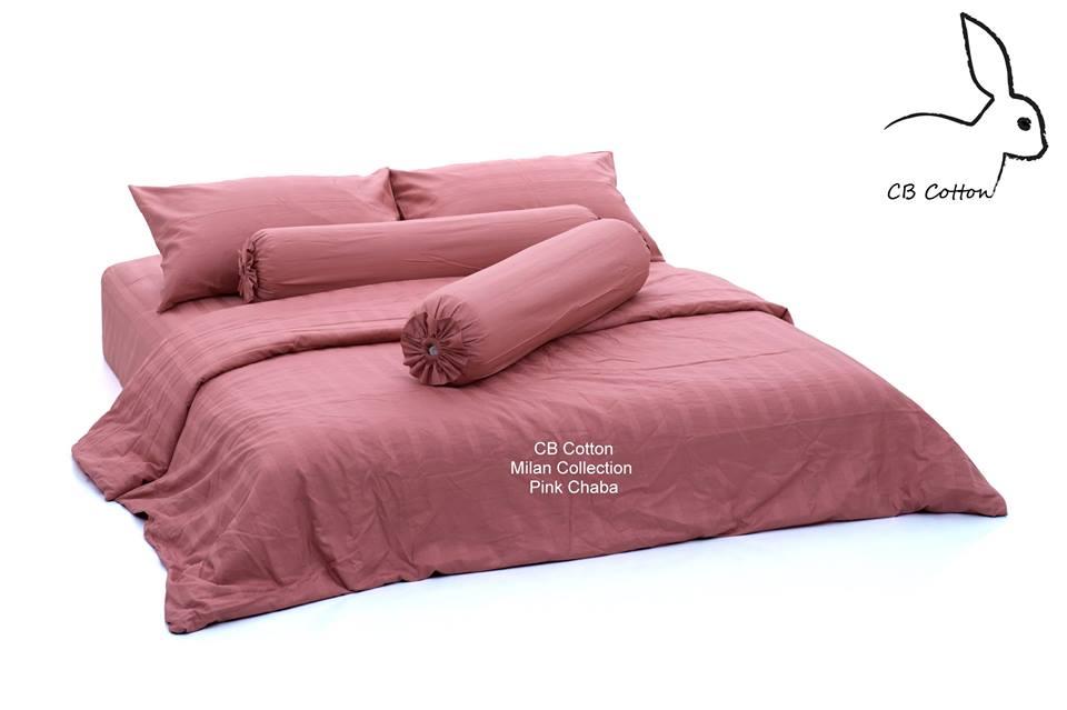 CBcotton, ชุดเครื่องนอน, นอน, sleep, cotton, ผ้าคอตตอน, เกรดโรงแรม 5 ดาว, กันไรฝุ่น, นอนนุ่ม, นอนหลับสบาย, milan collection pink chaba