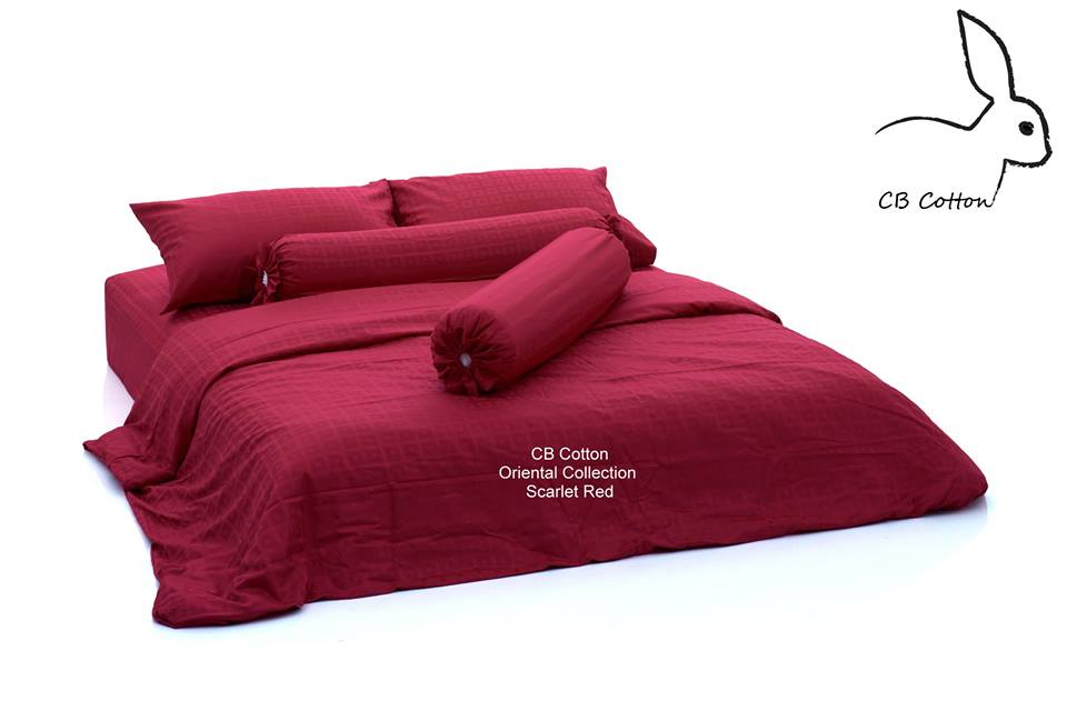 CBcotton, ชุดเครื่องนอน, นอน, sleep, cotton, ผ้าคอตตอน, เกรดโรงแรม 5 ดาว, กันไรฝุ่น, นอนนุ่ม, นอนหลับสบาย, oriental collection scarlet red