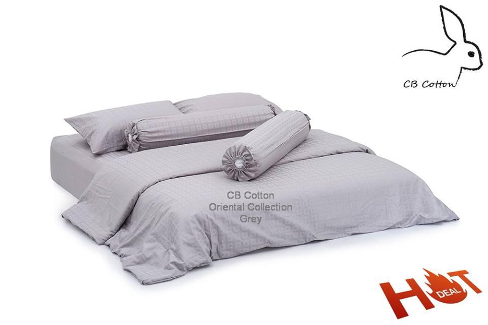 CBcotton, ชุดเครื่องนอน, นอน, sleep, cotton, ผ้าคอตตอน, เกรดโรงแรม 5 ดาว, กันไรฝุ่น, นอนนุ่ม, นอนหลับสบาย, oriental collection grey